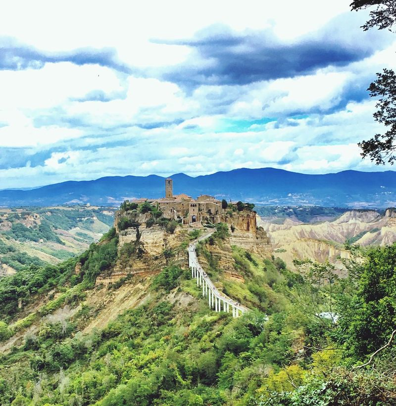 Sky Mountain Nature Cloud - Sky Beatiful View Civita Di Bagnoregio La Citta Che Muore