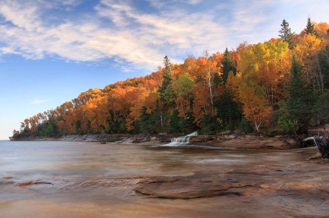 Autumn Beauty In Nature Lake Superior Lake Superior Upper Michigan Shore Nature No People Pure Michigan Sky Upper Peninsula