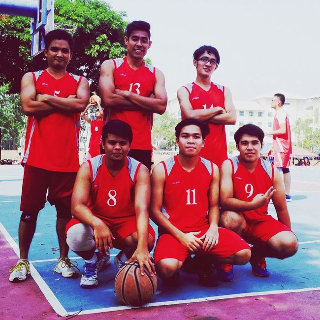 We won the championship! Champions Basketball