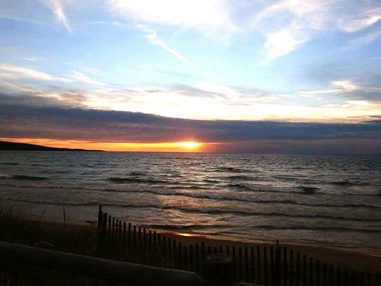 Sunset Nature Beauty In Nature Beach Sunsets Horizon Over Water Lake Superior