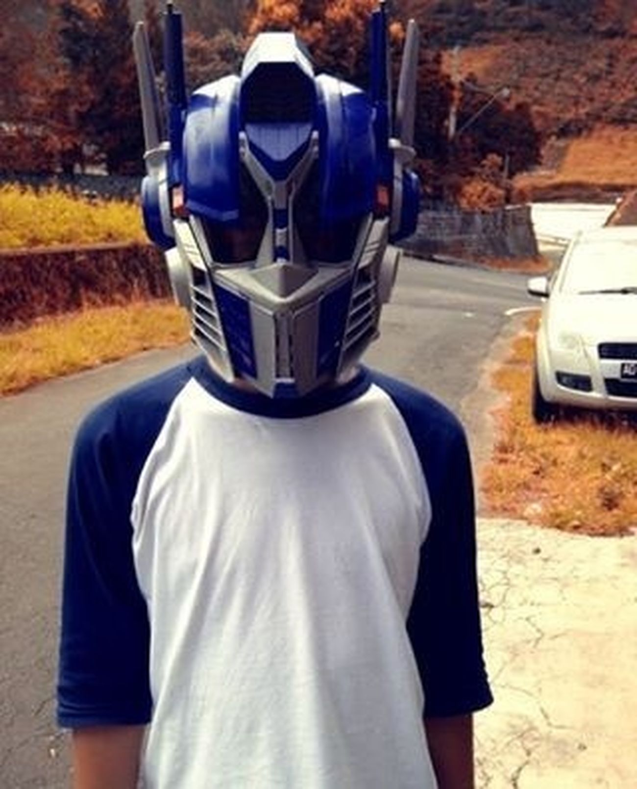 Optimus Prime Helmet Mask
