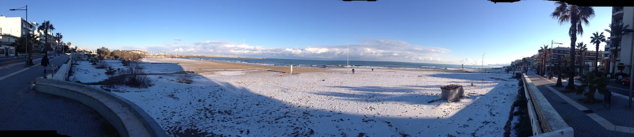 Snow on the beach Rethymnon 2017 Winter Snow Beach