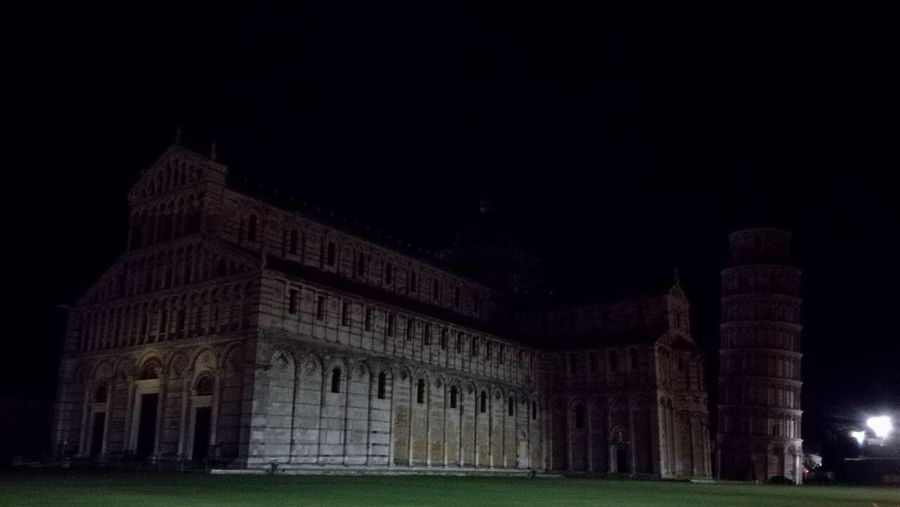Tower Of Pisa Night Italy No People Black Background at Pisa