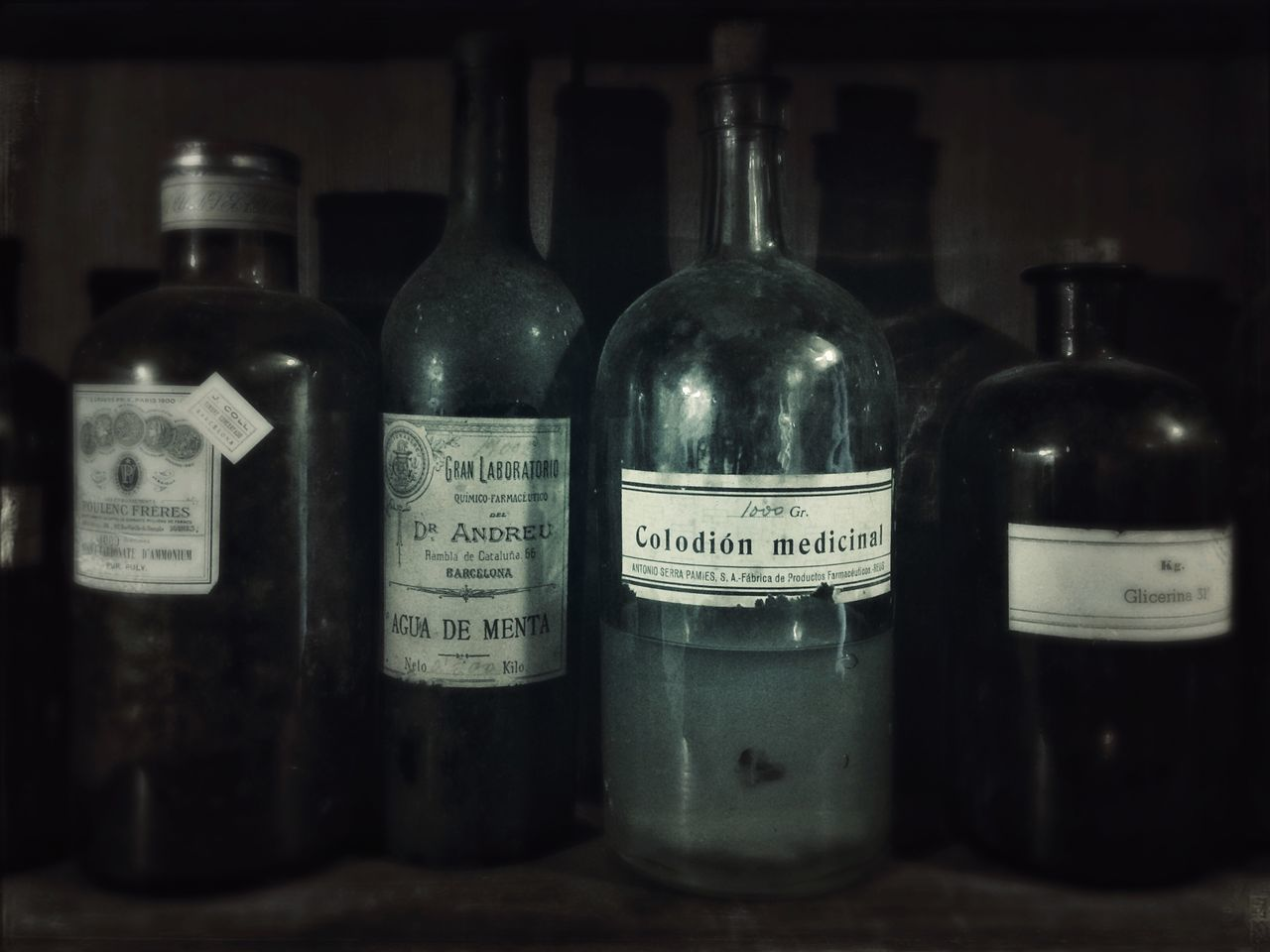 Oldtime Pharmacy Formulae Medecine Old Bottles Pharmaceutical Vintage Old Pharmacy