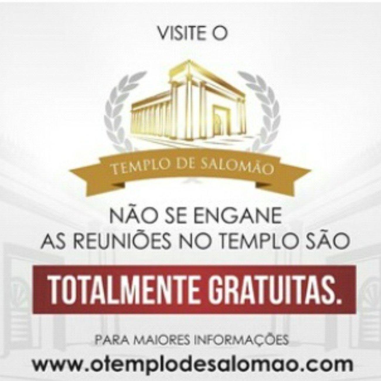 Que a Verdade prevaleça sobre a mentira a entrada no TemplodeSalomão sempre foi e será GRATUITA basta ir no templo e retirar sua credencial :D :D