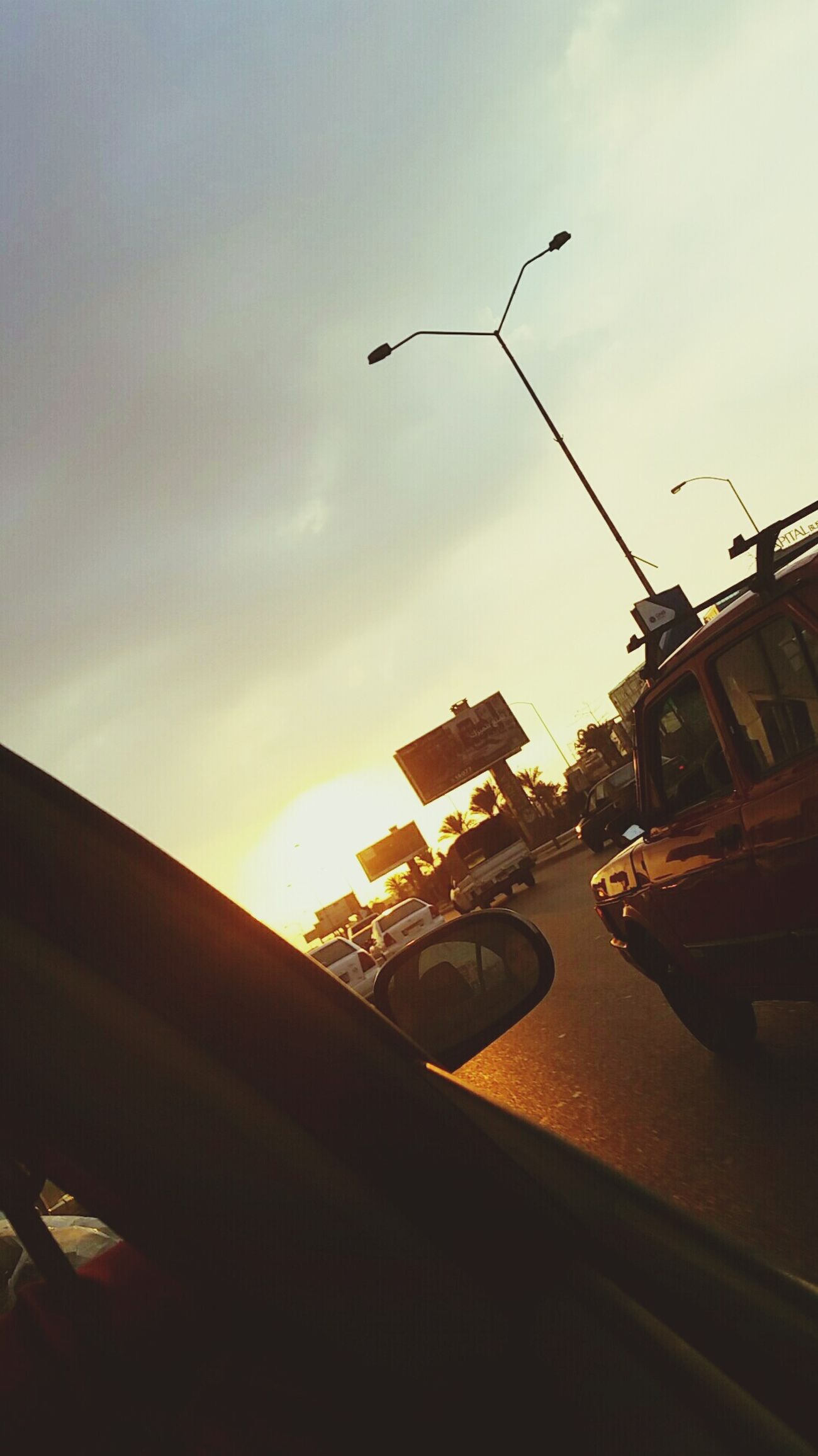 Am falling so am taking my time on ma ride City Driving Transportation Sunset Outdoors Phoyography Vintage Car Vintage Photo