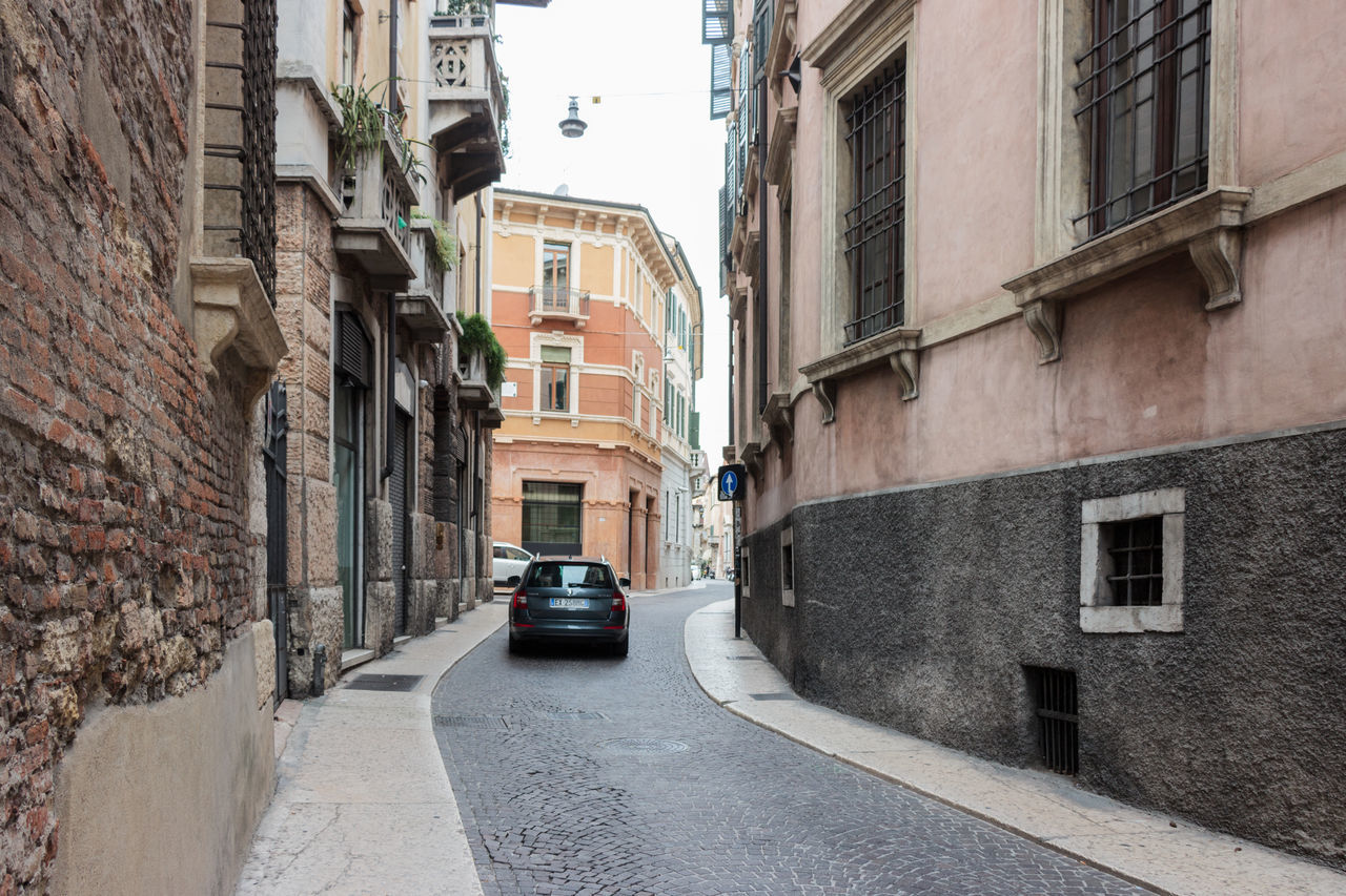 Verona, Italy - September 27, 2015 : Quiet streets of the old city of Verona. Piazzetta Serego street in Verona, Italy Architecture Architecture Art Building City Culture Day Europe Famous History House Italy Landmark Old Outdoors People Square Street Tourism Town Travel Urban Verona View Walking