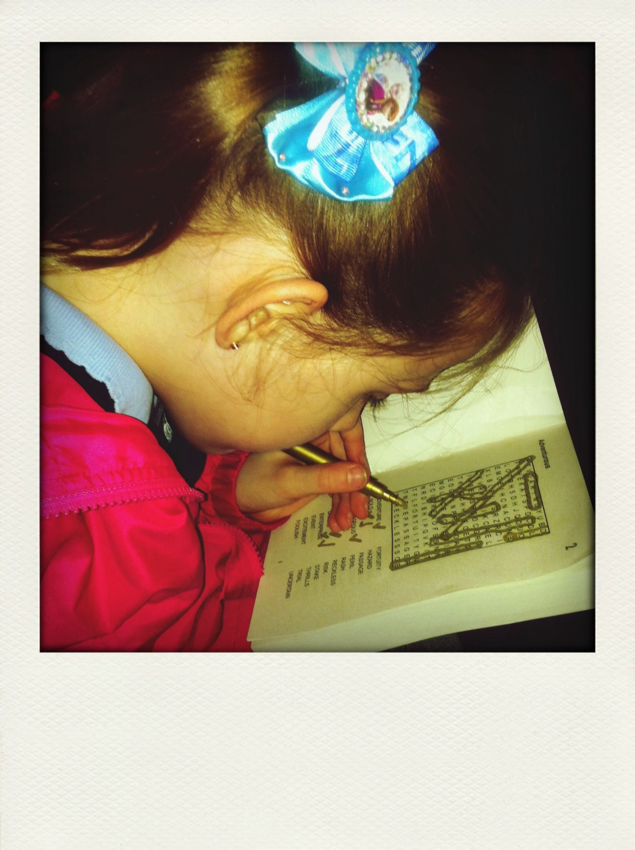 Courtney doing her word search she never stops!! First Eyeem Photo