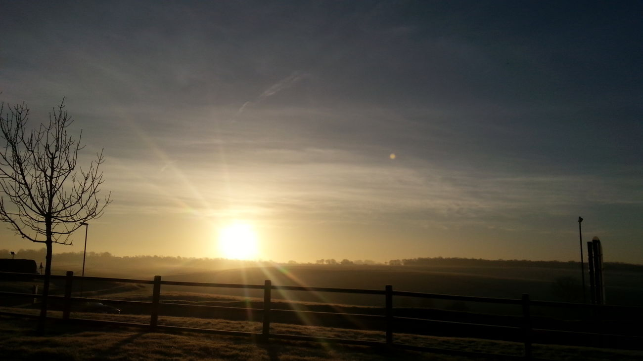 Sky Clouds Epsom Downs Dawn Sunrise Outside Morning Ice At Dawn  Cold Morning Light Frost