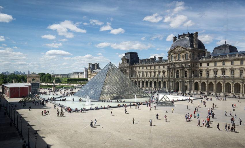 Louvre courtyard Louvre Musée Du Louvre Louvrepyramid Paris Parismuseum