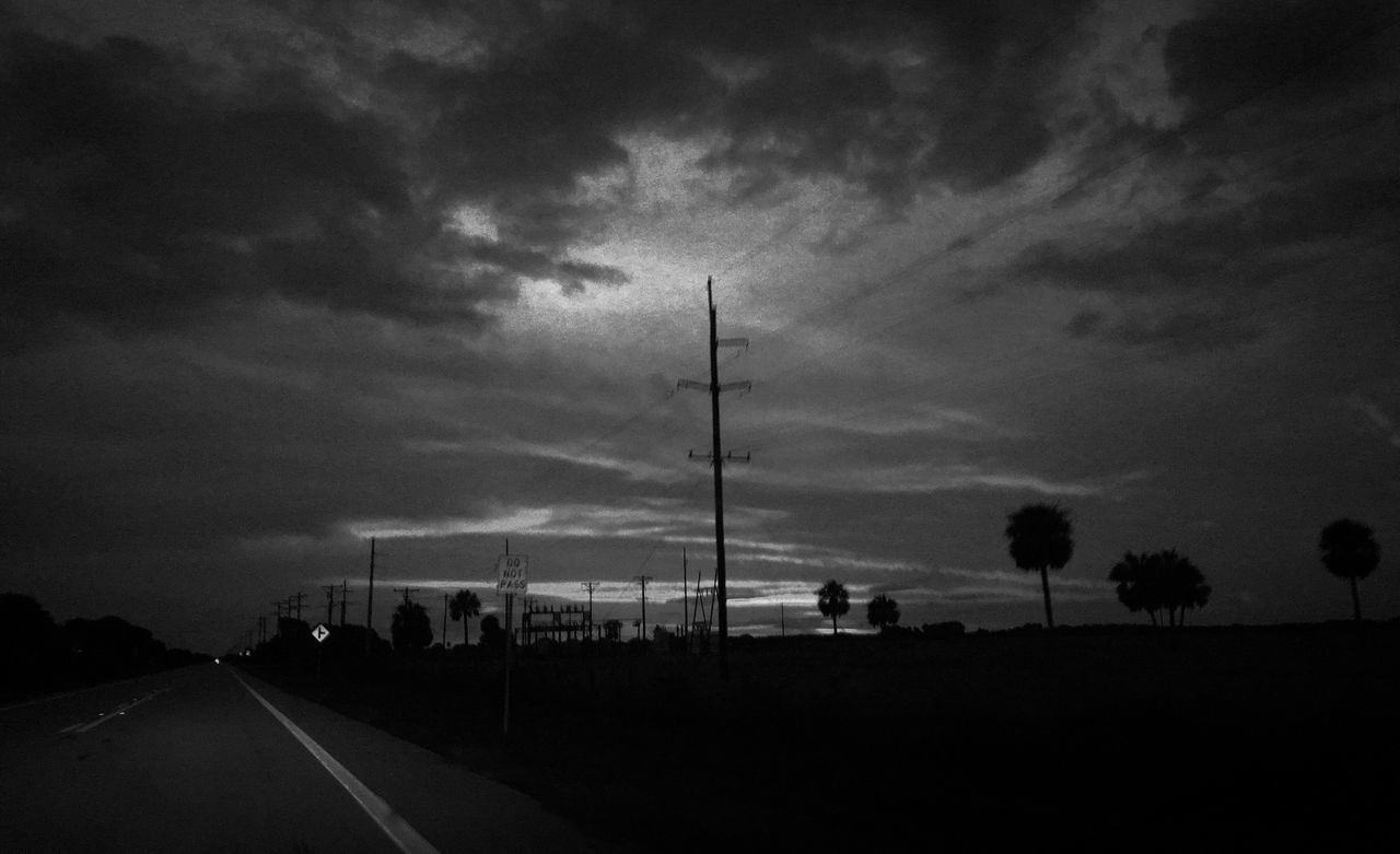 Sky Road Cloud - Sky Silhouette The Way Forward Outdoors No People Nature Blackandwhite Grain First Eyeem Photo EyeEmNewHere