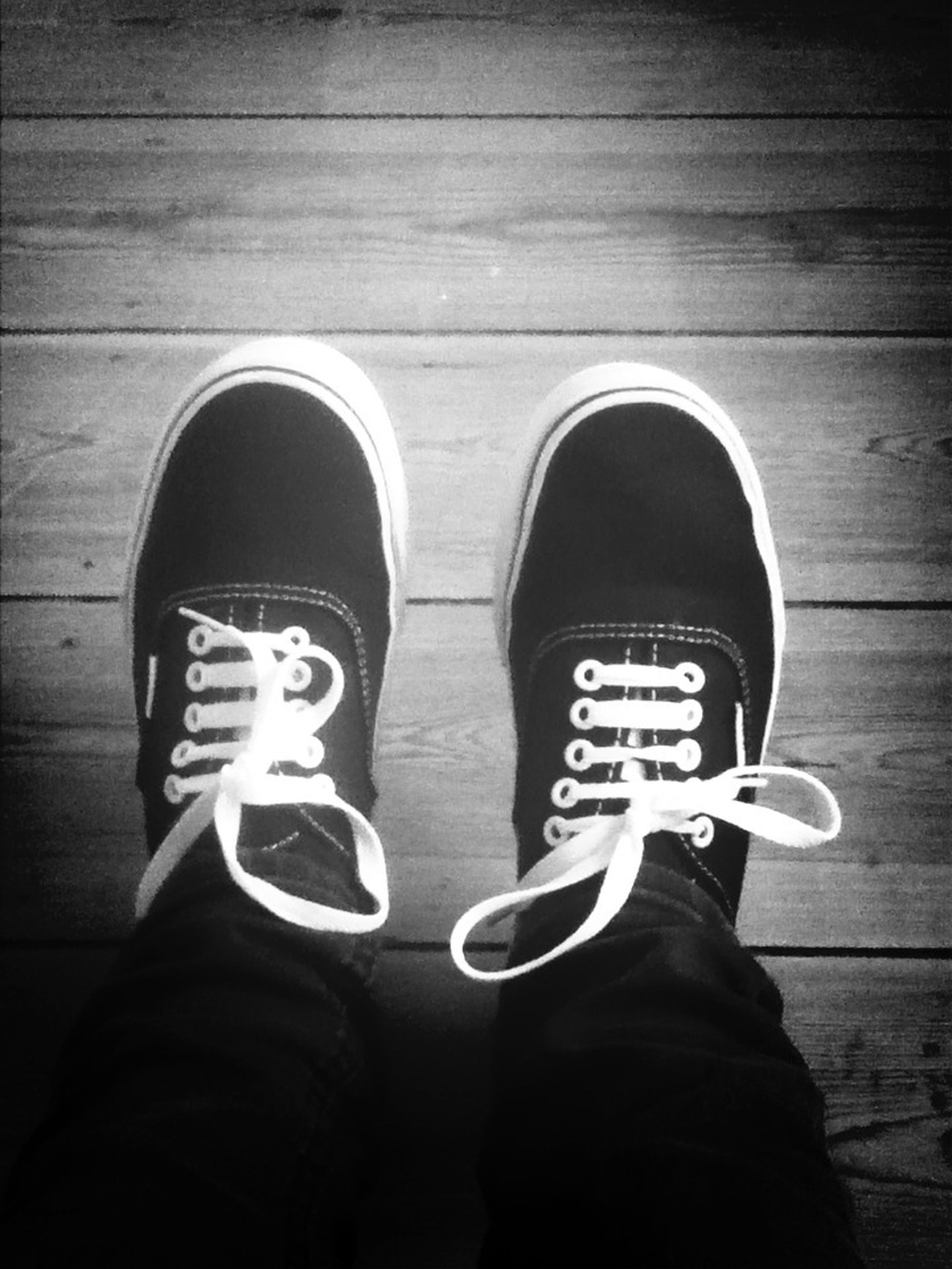 shoe, low section, person, footwear, personal perspective, jeans, standing, canvas shoe, lifestyles, human foot, men, pair, high angle view, leisure activity, directly above, close-up, casual clothing
