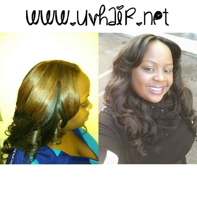 These photos were taken more than 2 years apart & the hair is still in fantastic shape. Buy Quality hair and save yourself in the long run♡♡ UVHair Peruvian girly extensions