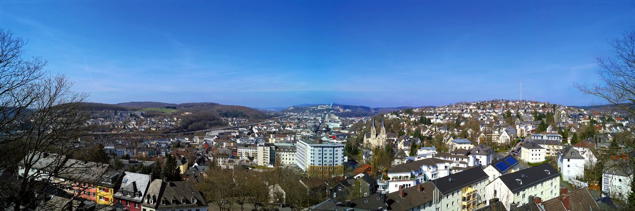 Siegen Panorama Architecture Blue Building Exterior Built Structure City Cityscape Community Crowded Day Germany High Angle View Mountain Mountain Range Panorama Residential Building Residential District Residential Structure Siegen Siegen Panorama Siegen, Germany Siegerland Sky Town TOWNSCAPE Tree