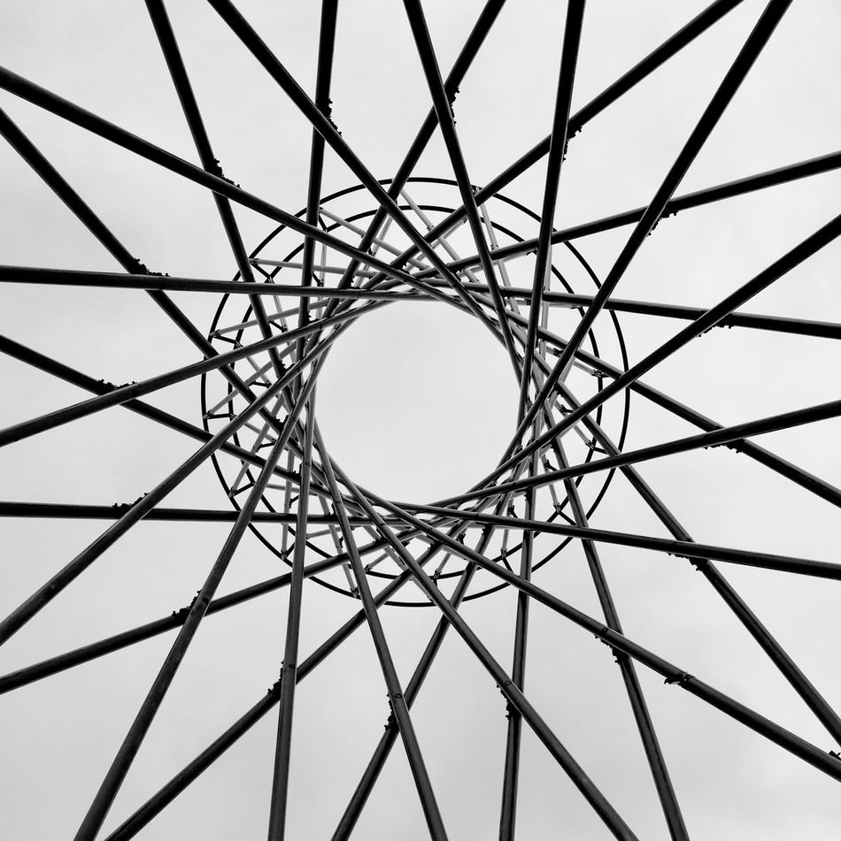 Connection Beautifully Organized No People Low Angle View Sky Outdoors Backgrounds Day Art Steel Minimalist Architecture