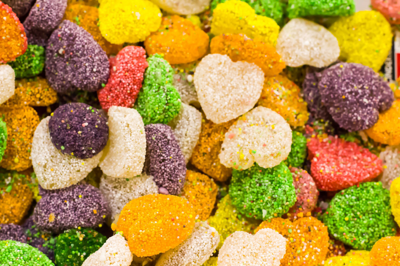 Multi Colored Food Close-up Choice Vibrant Color Large Group Of Objects Dessert Ready-to-eat Colorful Temptation Sweets Shop Candylicious Turkish Delight Soft Candy Sweeties Sweets Delicious