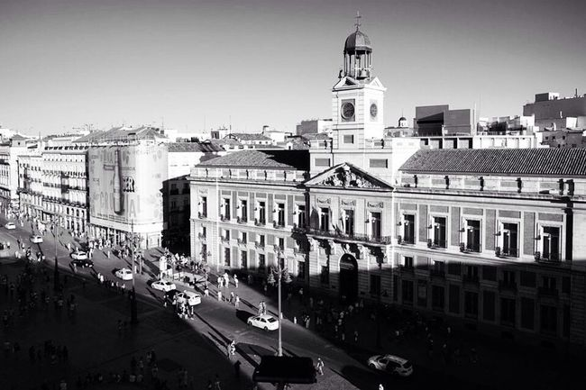 Architecture Building Exterior City Street City Street City Life Puerta Del Sol Madrid SPAIN Street Photography Steetphoto_bw