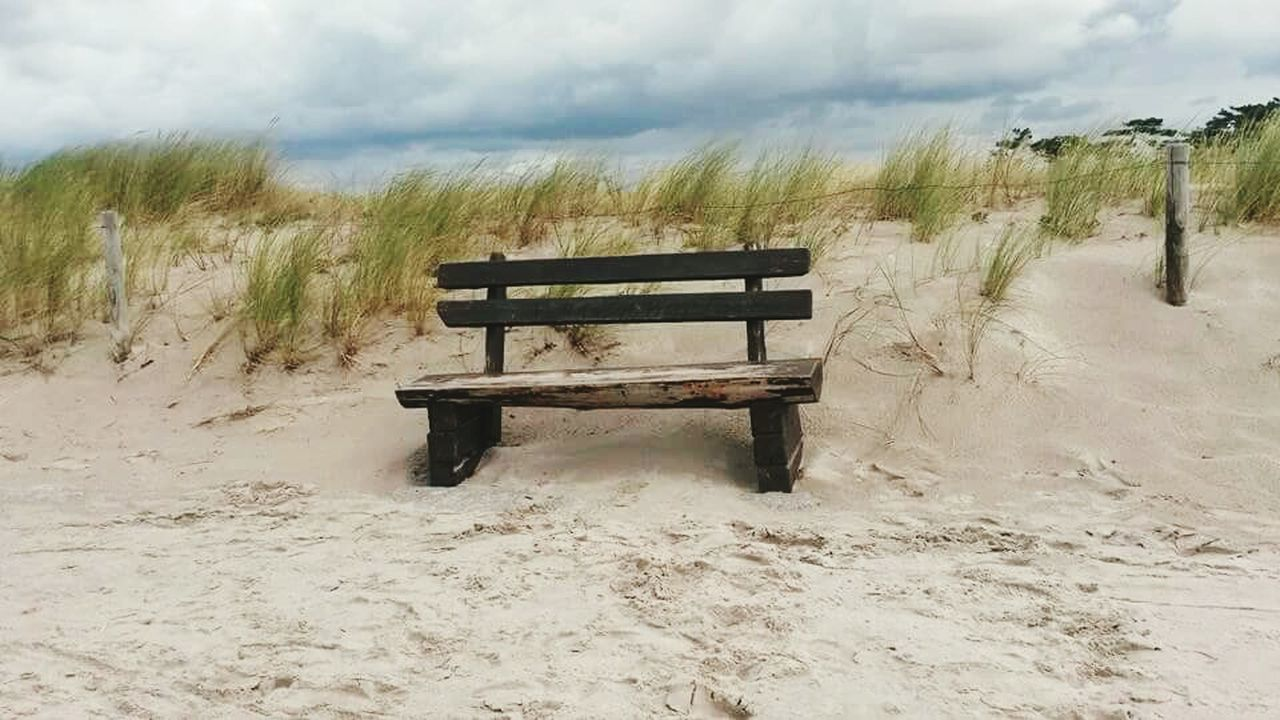 sand, landscape, nature, tranquility, day, scenics, tranquil scene, cloud - sky, no people, sky, seat, beauty in nature, outdoors