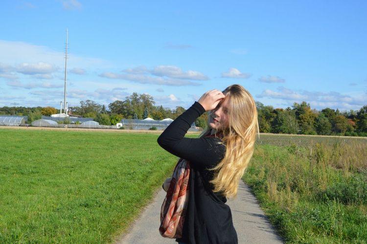 Feld Hair Sonne