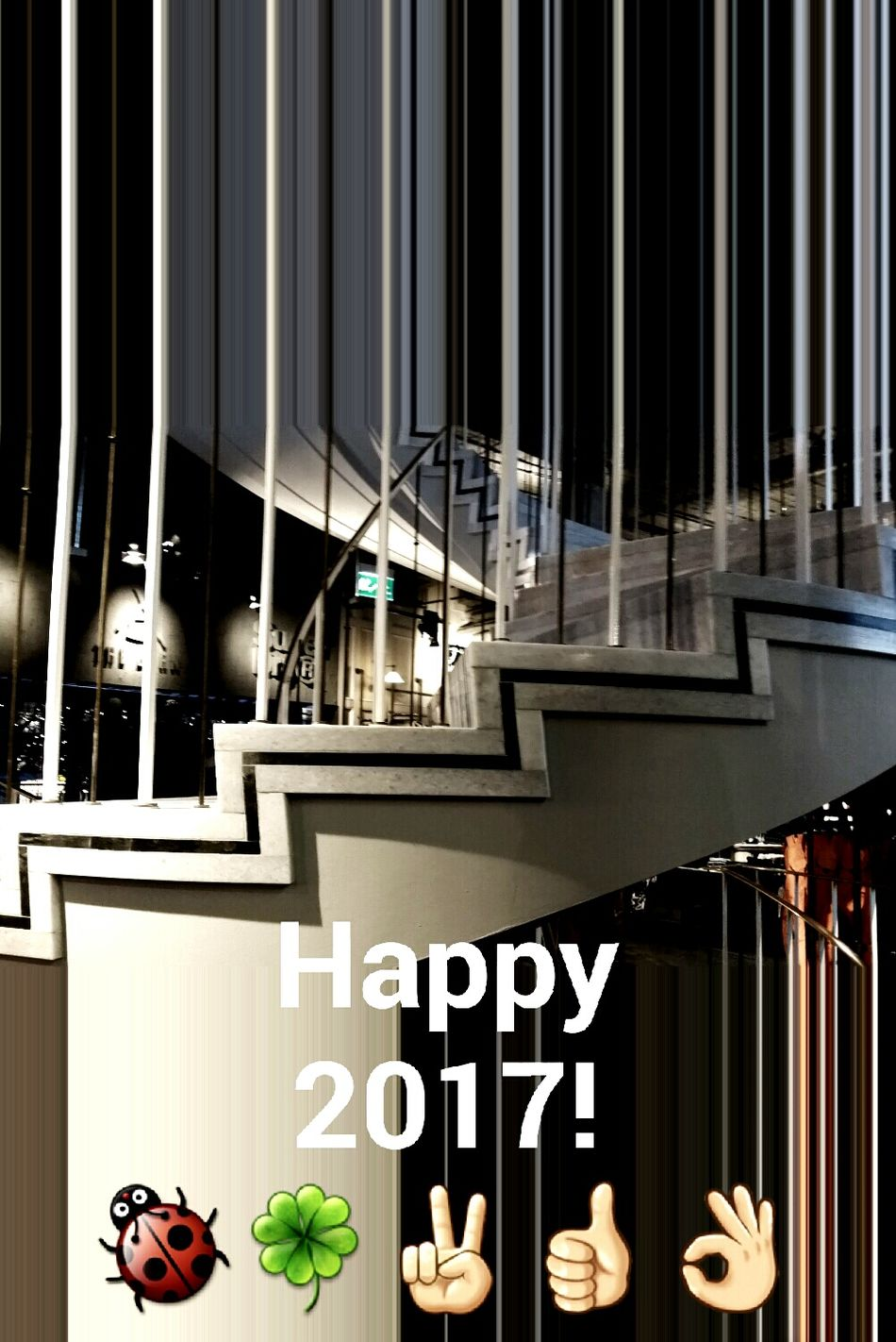 We wish you a peaceful & happy 2017! NewYear2017 Stairs Staircase Stairway To Heaven Steps And Staircases Up And Down Indoors No People Text Full Of Imagination  Treppen Stairs Escaleras Geometric Shapes Smgtreppen EyeEm Masterclass Creativity Perspectives And Dimensions EyeEm Gallery First Eyeem Photo Eye4photography  Eye4photography  Mobilephotography Architecture Day