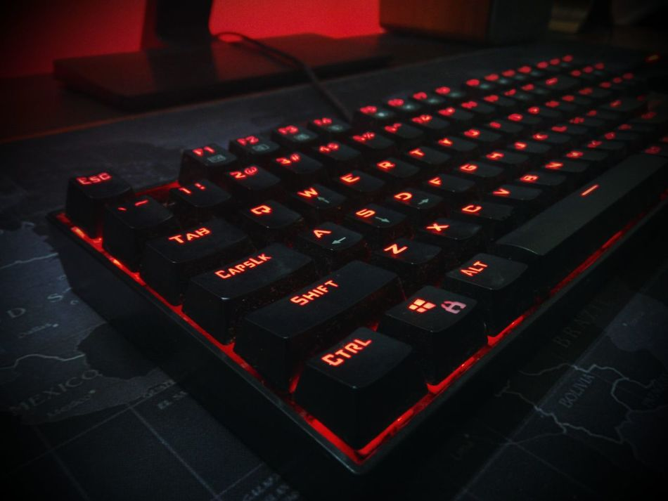 Keyboard Mechanical Keyboard Led Lights  Backlight Technology Accessories Dusty Typeface  Red Lighting