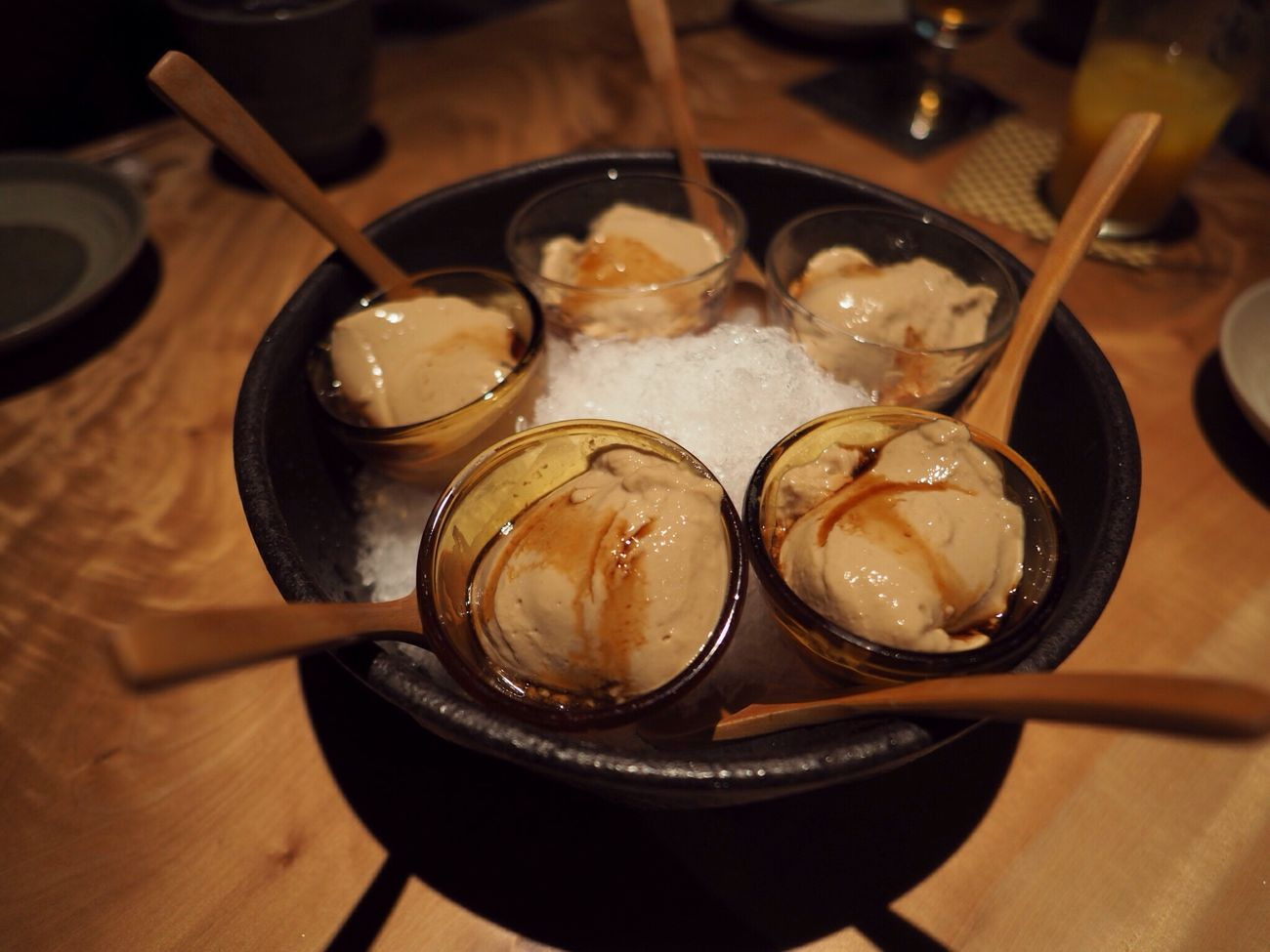 Kyoto Japan Nagaokakyo Enoki-ya Dinner Pudding Delicious Olympus PEN-F 京都 日本 長岡京 えのきや 食事会 プリン コーヒー? 美味 デザート
