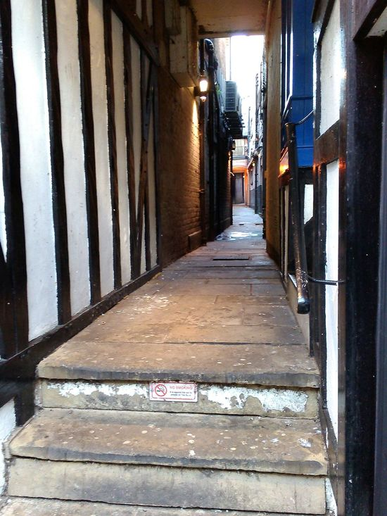 Absence Alleyway. Architecture Blackandwhite Building Exterior Built Structure Corridor Day Diminishing Perspective Empty Entrance Long Narrow No People Olde Worlde Steps. The Way Forward Vanishing Point Walkway White