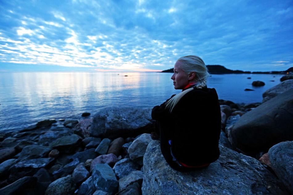 EyeEm EyeEm Best Edits EyeEm Gallery Love Nature Sky St Fabien Sur Mer ,Quebec, Canada Tranquil Scene Bay Quebec Portrait Of A Woman Serenity Calm Women Around The World