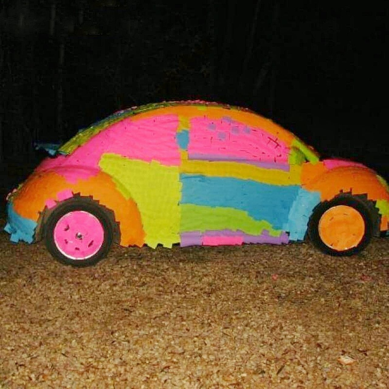 Multi Colored Pink Color No People Outdoors Close-up Day Car Bright Colors Neon Neon Color Neon Effect Glowing Glowing In The Dark Doodlebug  Volkswagen Volkswagen Beetle Funny Colorful Cars One Of A Kind  Crazy Car Creativity Unusal Stlyes Automobile Car Porn Automotive Photography