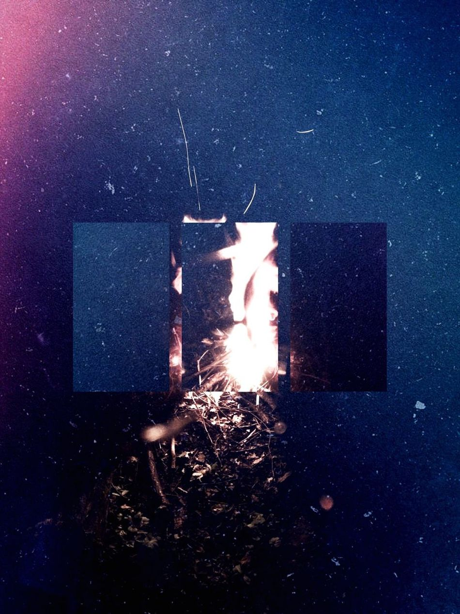 A night bonfire Fire Bonfire Flame Edit Colour Shapes Dark Outdoors Nightlife Night