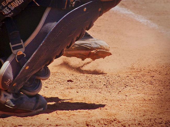 Baseball Game Catcher Baseball - Sport Catchers Gear Eyeemsports Flying Dirt