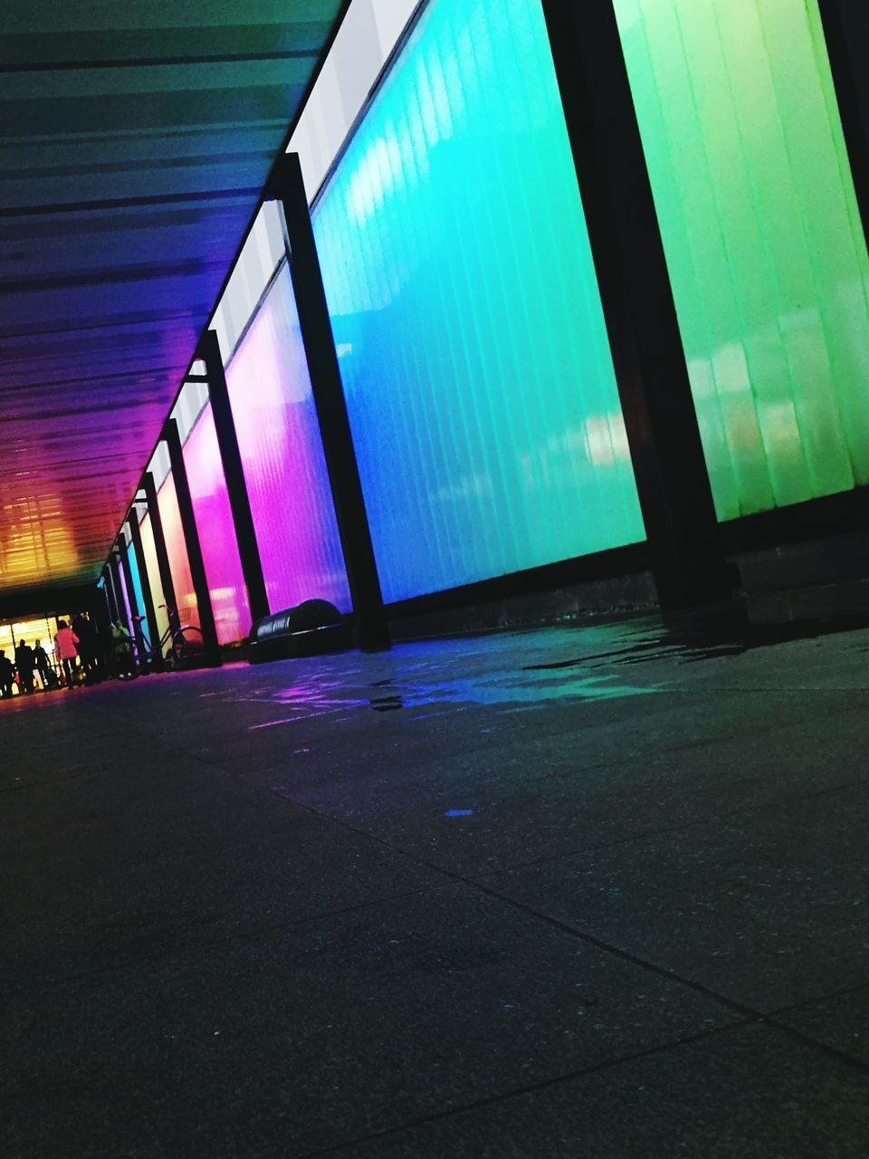 architecture, built structure, modern, city, illuminated, multi colored, no people, indoors, night, building exterior