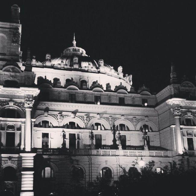 Teatrslowackiego Architecture Night Cracow Krakow Blackandwhite Bw Blancetnoire Bnw Czarnobiale Monochrome