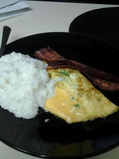 I Stuffed My Omelette So Much Tht It Busted Lol