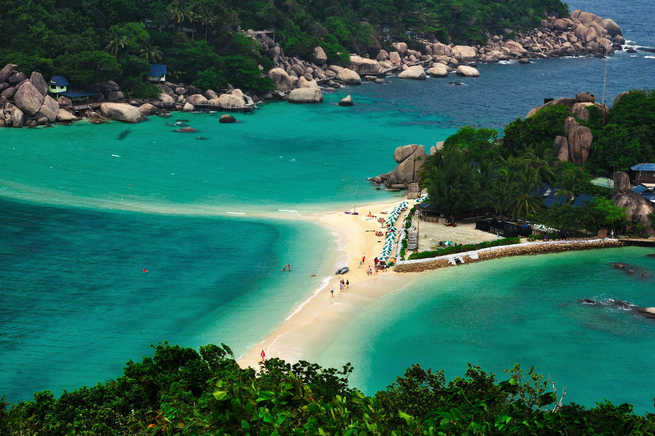 Aerial View Beach Beauty In Nature Day High Angle View Koh Tao Koh Tao, Thailand Koh Tao,Tao Island,Southern Thailand Nang Yuan Island Nature Outdoors Rock - Object Sand Scenics Sea Sky Tourism Travel Destinations Vacations Water