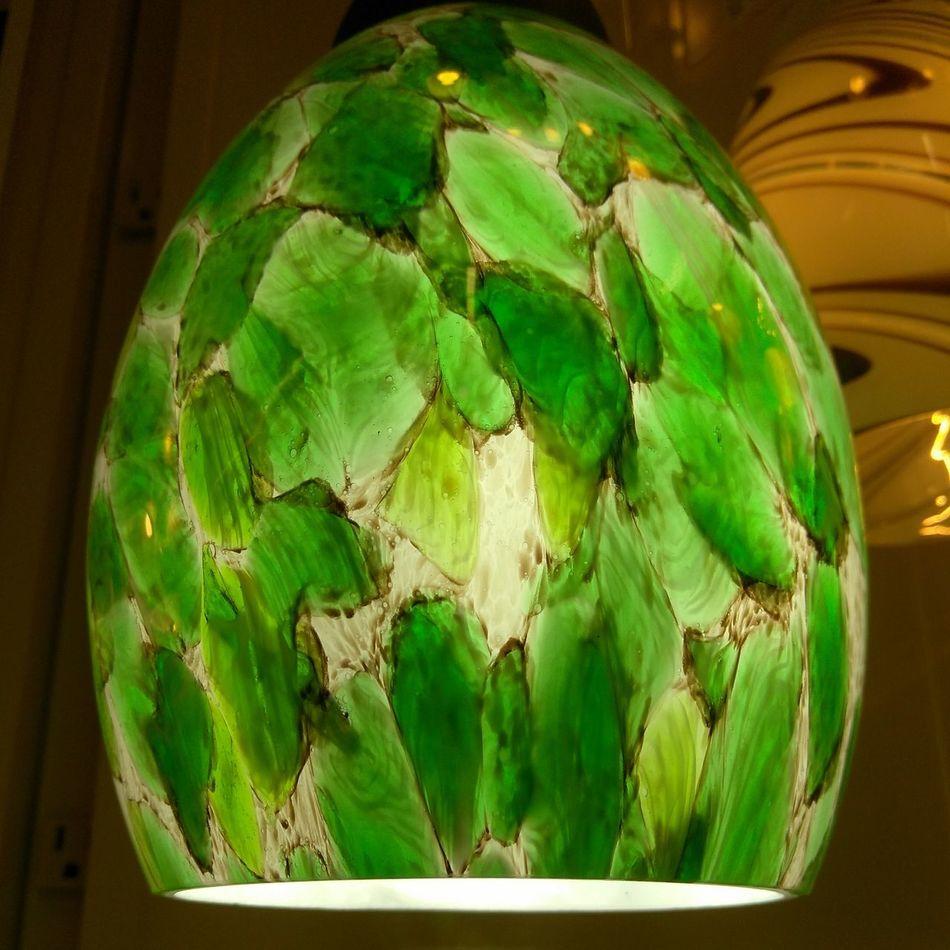 Green Light Fixture