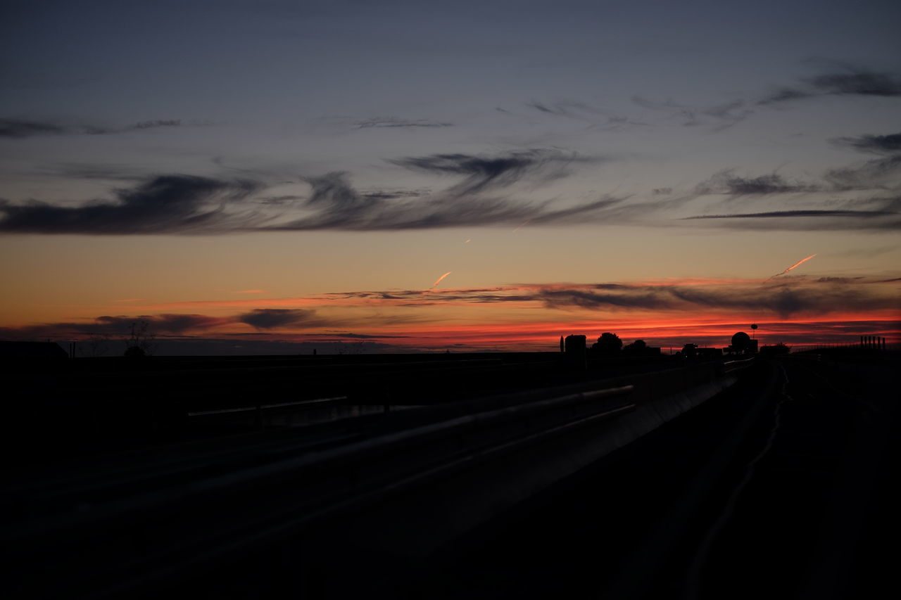 Sunset Sky Road Fuji X-T1