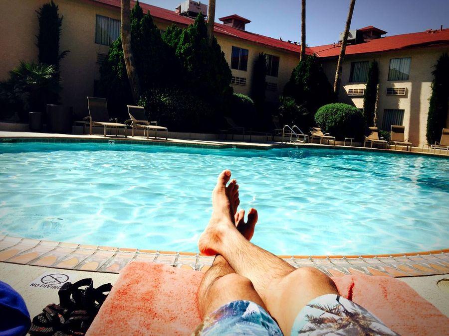 Poolside Relaxation Lifestyles Summertime Sunbathing☀ Lovely Weather