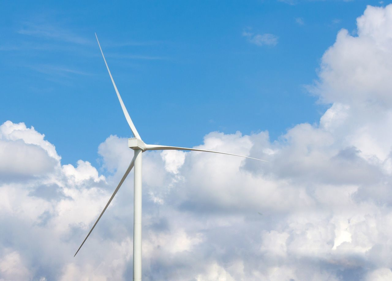 Sky Vapor Trail Wind Turbine Fuel And Power Generation Contrail Low Angle View Wind Power Alternative Energy No People White Day Outdoors Nature Industrial Windmill Wind Turbine Industry Industrial Energy Power Plant Green Energy Environment Windmill Save The World Ecology