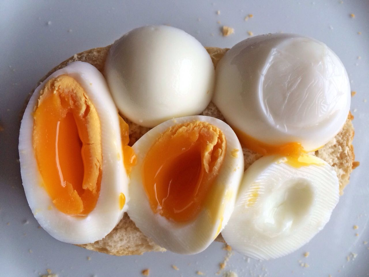 Close-up of boiled eggs