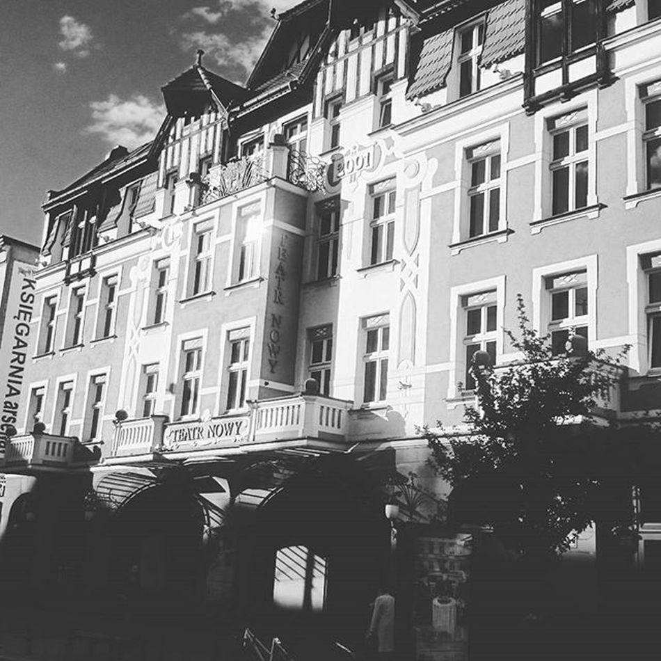 I love Jeżyce! 💜 Poznań Poznancity Jezyce Towork Theater Newtheatre City Poland Architecture EwaJoannaMatczyńskaPhotography Summertime Magic Moments Blackandwhite