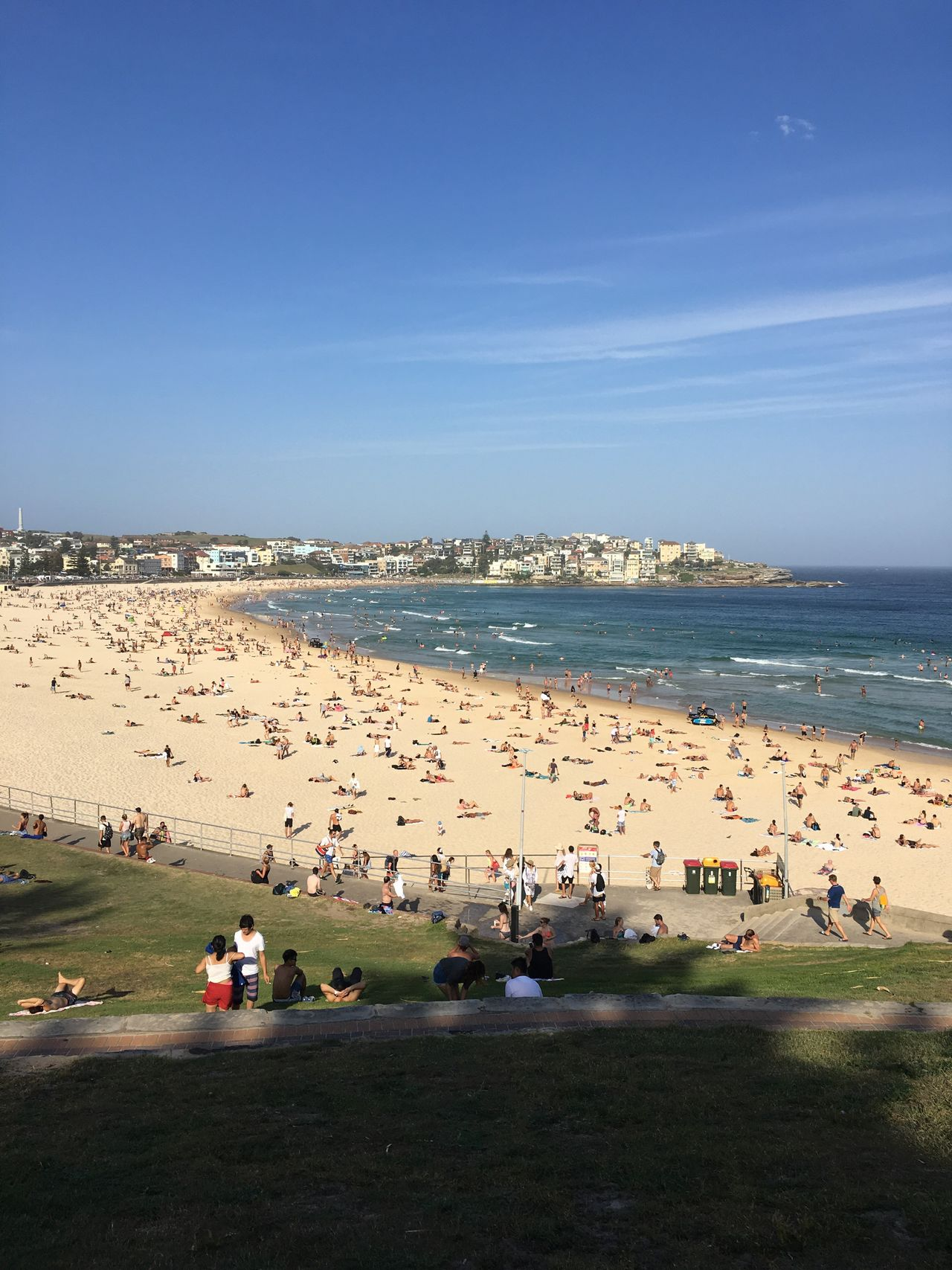 After work beach time Sea Clear Sky Beach Blue Tourist Water Large Group Of People Horizon Over Water Outdoors Sky Real People Sand City Vacations People In The Background Bondi Beach Day People