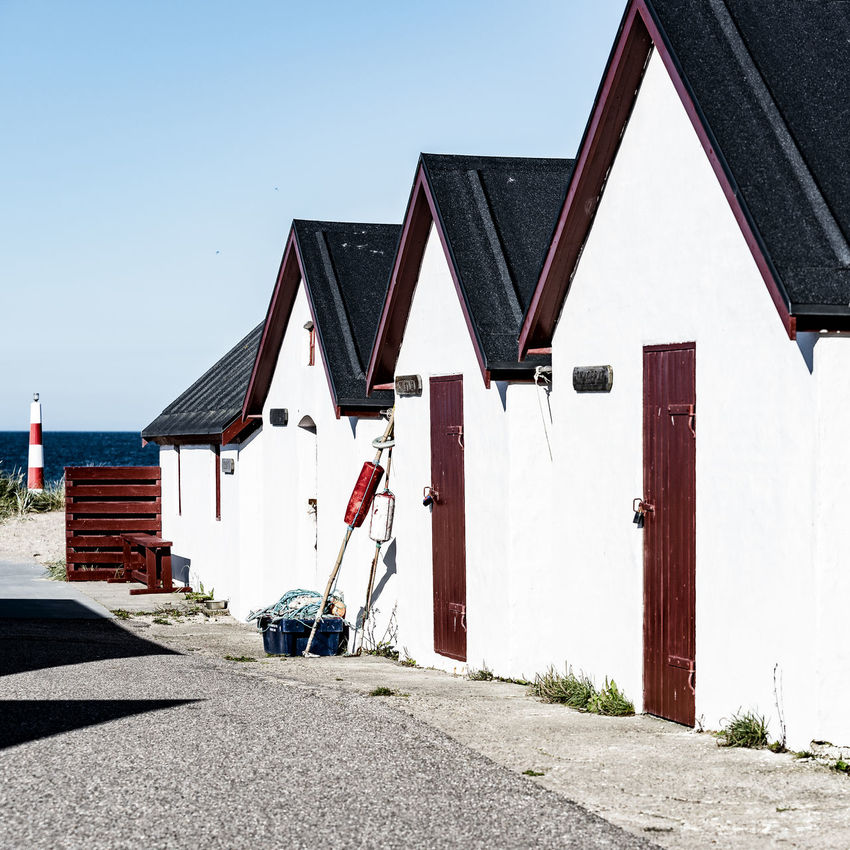 small houses Architecture Blue Sky Building Exterior Built Structure Coast Day Denmark Hollidays Klitmøller Little Houses  No People Northsea Outdoors Sky Small Houses Sommertime Summertime Surfer Paradise