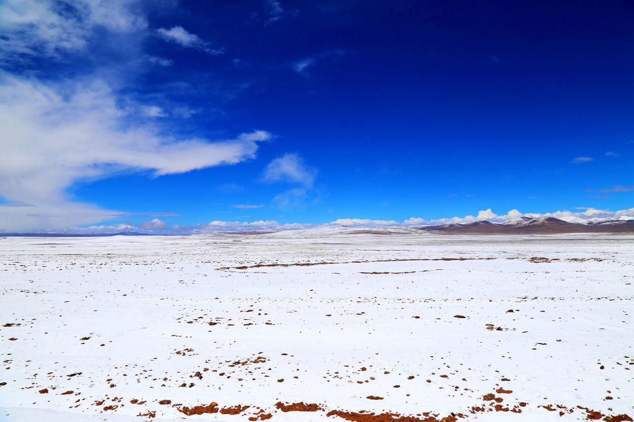 Arid Climate Beauty In Nature Blue Cloud - Sky Day Desert Landscape Nature No People Outdoors Salt - Mineral Salt Flat Sand Sand Dune Scenics Sky Water