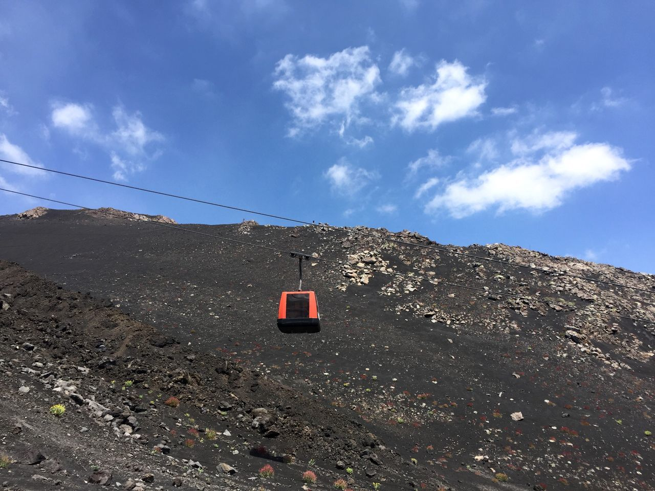 EyeEm Selects EyeEm Selects Etna volcano, Sicily Sky No People Day Cloud - Sky Outdoors Blue Nature Landscape Mountain Beauty In Nature Cable Car Going Up Etna Sommergefühle