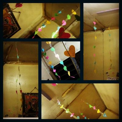 When i got home, i saw this dangling hearts inside my bedroom..hearts with intense and sincere sweet messages..thank you babe and i love you so much! ^__________^ Love Life Passion Tearsofjoy kisses sweet lovelife hearts dangling cute sweetestthingever fortheveryfirsttime surprise special smile laughter amazing colorful intense