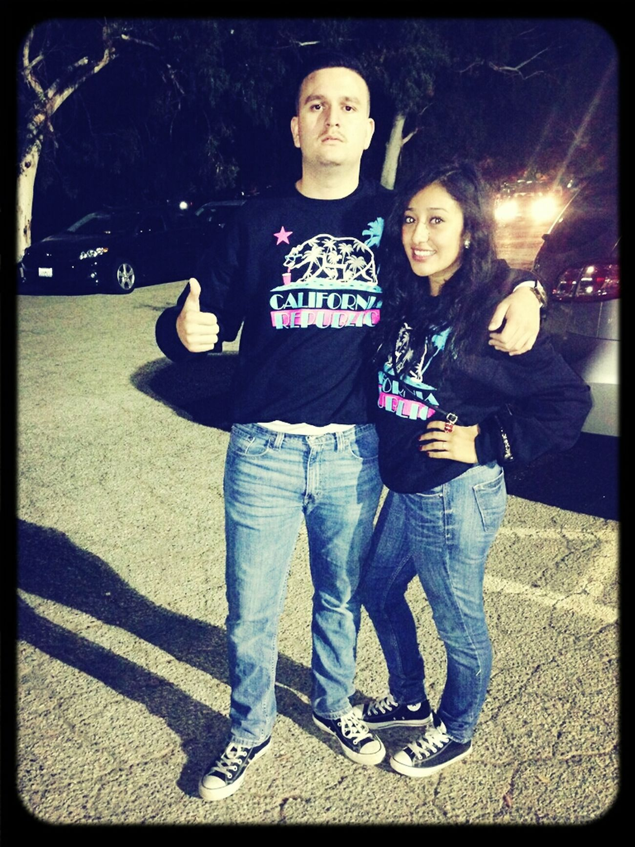 LA haunted hayride:) matching with my babe♥
