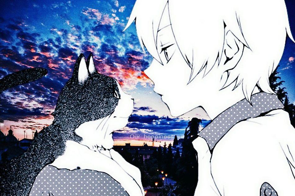 аниме кот Love