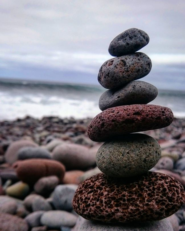 Balance Balanced Rock Ocean Pebbles Rocks Waves Rocky Beach Colorful Nature Colors Maditation Zen Yoga Peace Peace And Love. Mindfulness Calmness Nature Ocean View Salty Water Theraphy Q Quiet Moment Travel Madeira Island
