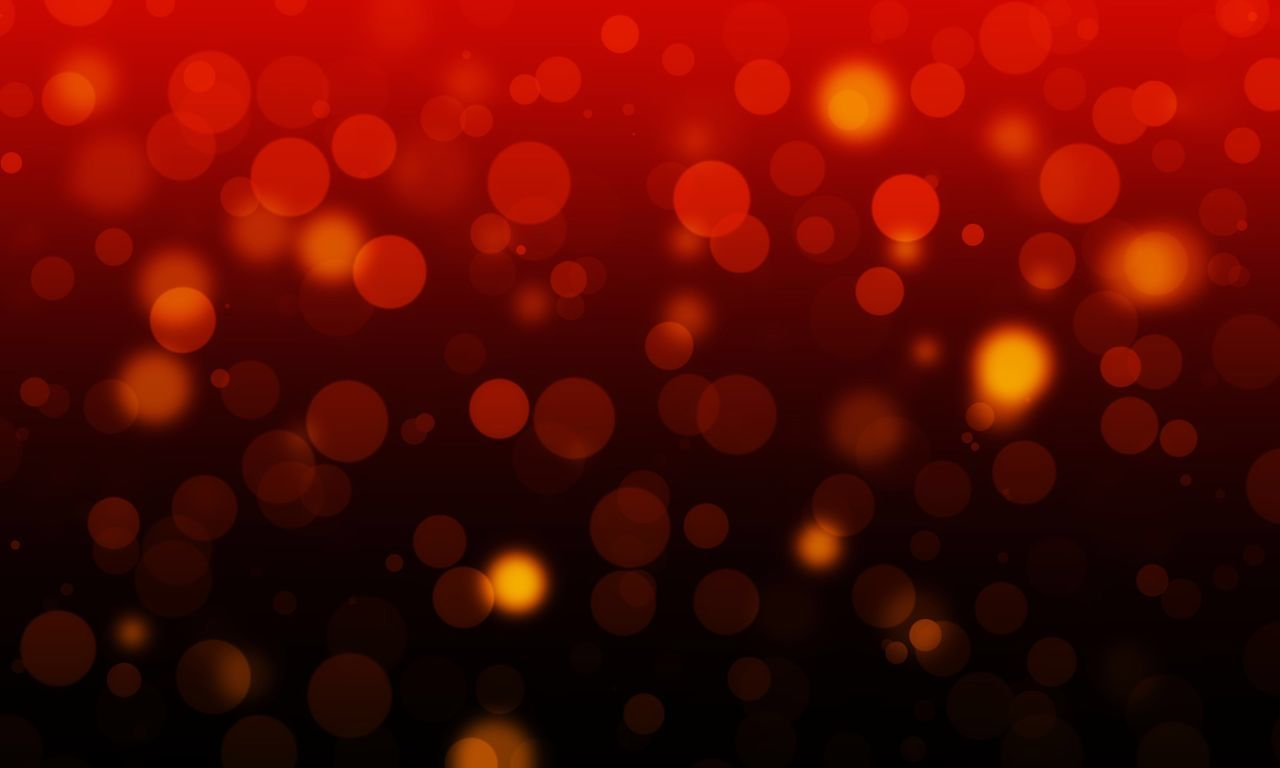 Defocused Abstract Illuminated Circle Christmas Glowing Vibrant Color Brightly Lit Backgrounds Pattern Spotted Christmas Lights Lighting Equipment Red Celebration Christmas Decoration Night Celebration Event Yellow Electricity